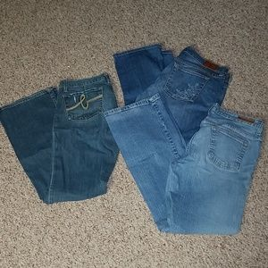 3 PAIRS OF SIZE 10 / 30 DESIGNER JEANS